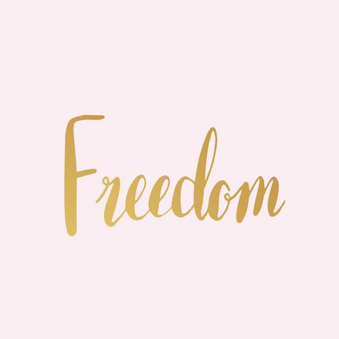 Vecteur de style typographie mot liberté