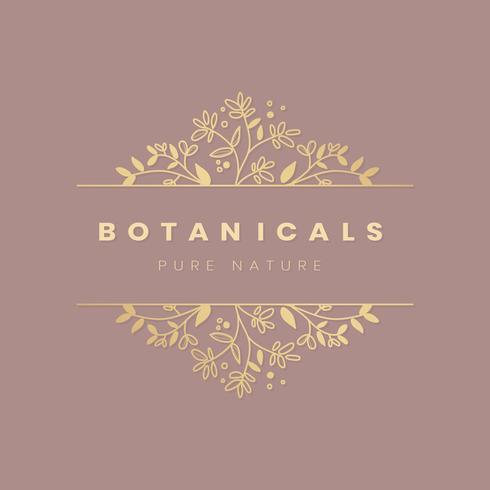 Blom botanisk ram