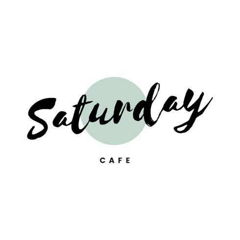 Saturday cafe logo branding vector