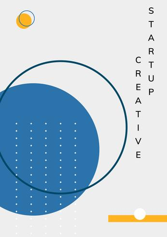 Vector de cartel de inicio de diseño de memphis mínimo