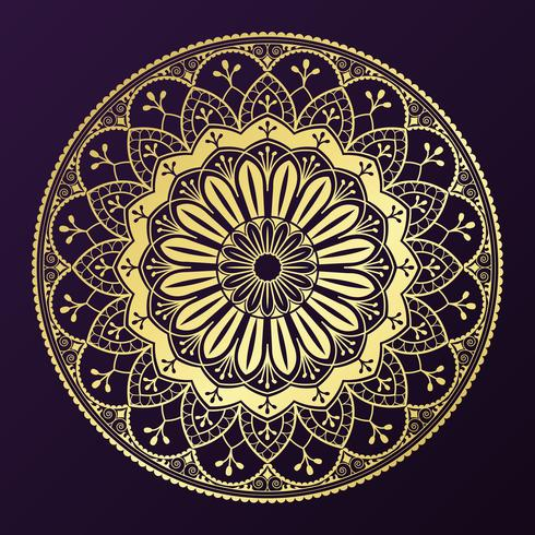 Badge de mandala doré