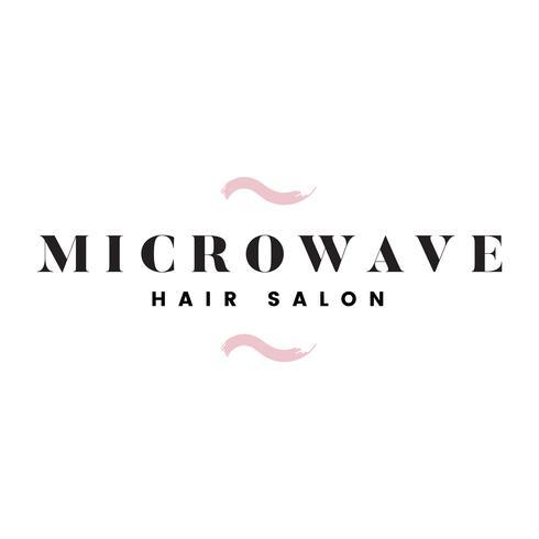 Microondas peluquería logo vector