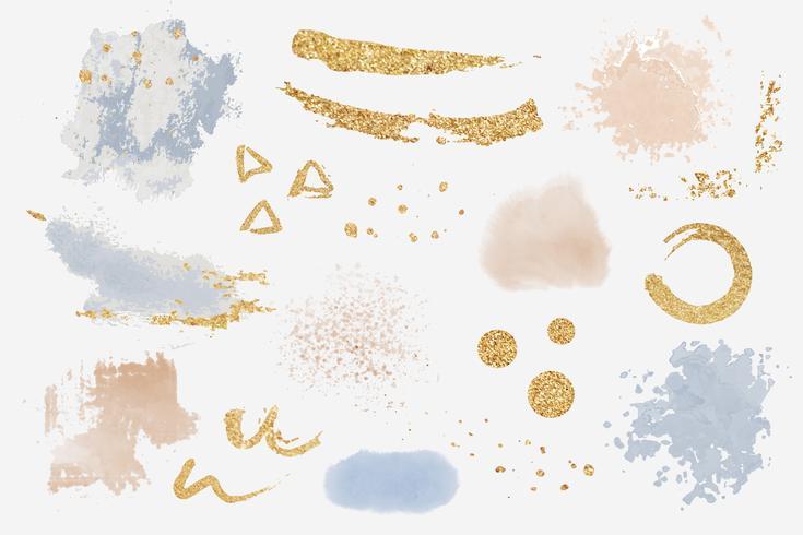 Malen Sie Splatter-Gestaltungselementsatzvektor