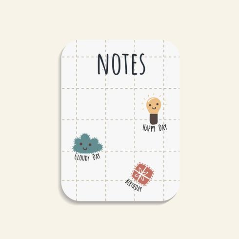 Colorful note pads