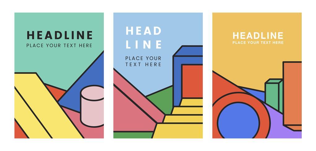 Set di poster colorati