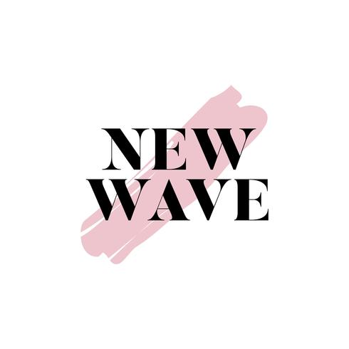 New wave typography logo vector