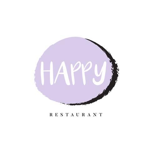 Vecteur de marque logo restaurant heureux