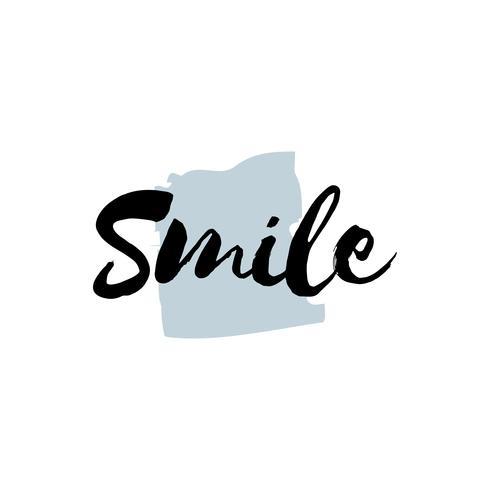 Vecteur de typographie ou logo de sourire