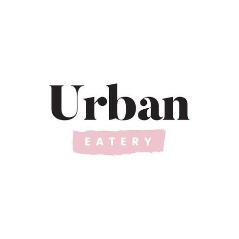 Vecteur de logo de restaurant urbain simple