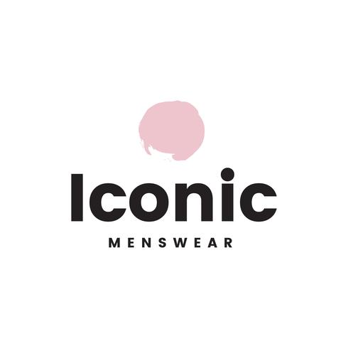 Vecteur de conception de logo iconic menswear