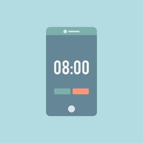 Graphique de temps sur le téléphone mobile