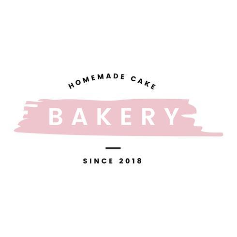 Boulangerie avec vecteur de logo de gâteaux faits maison