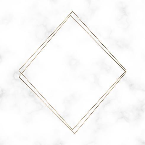 Vettore di modello cornice quadrata dorata