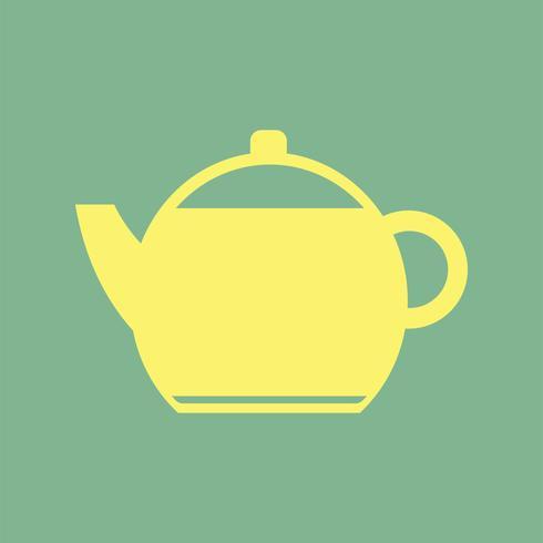 Gele eenvoudige theepot pictogram illustratie