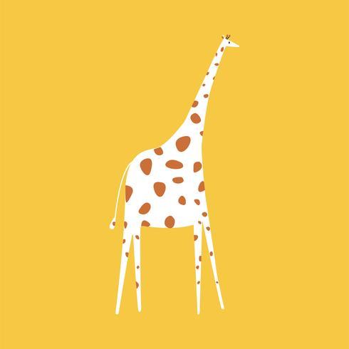 Nette Abbildung einer Giraffe