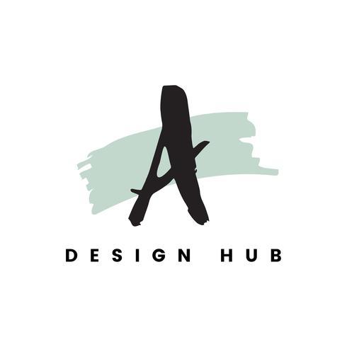 Un vector de logo de hub de diseño