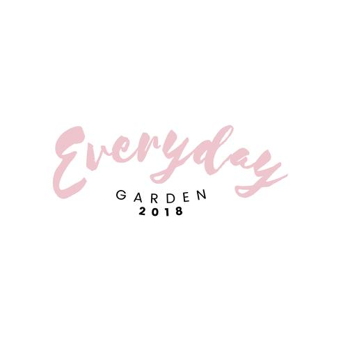 Everyday garden restaurant logo vector