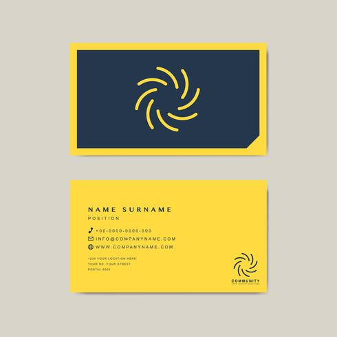 Plantilla de diseño de muestra de tarjeta de visita