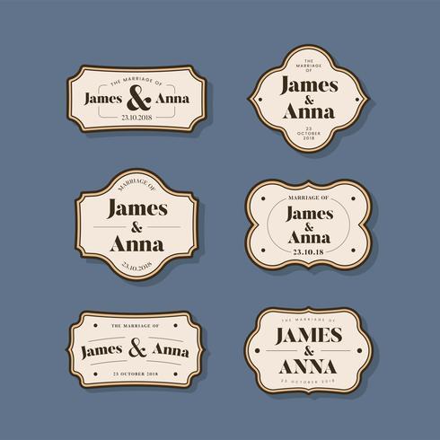 Set di badge invito matrimonio