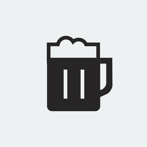 Pinta de cerveza ilustración gráfica.