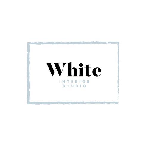 Création de logo studio intérieur blanc