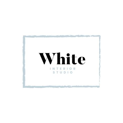 Vit interiörstudio logo design