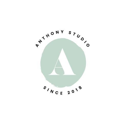 Anthony Studio Logo Design Vektor