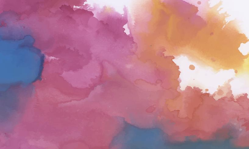 Fundo texturizado aquarela tinta colorida