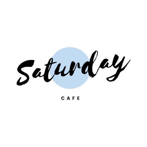 Lördag café logo branding vektor