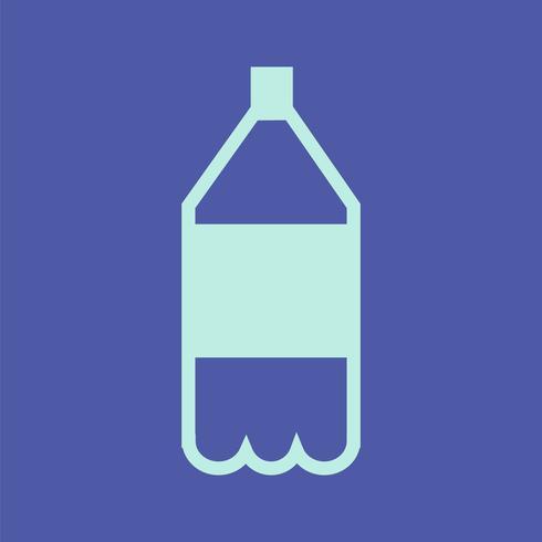 Soft drink plastflaska ikon illustration
