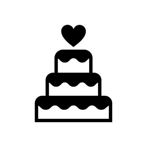 Grafische Illustration der dreistufigen Hochzeitstorte