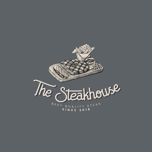 Der Steakhouse-Logo-Designvektor