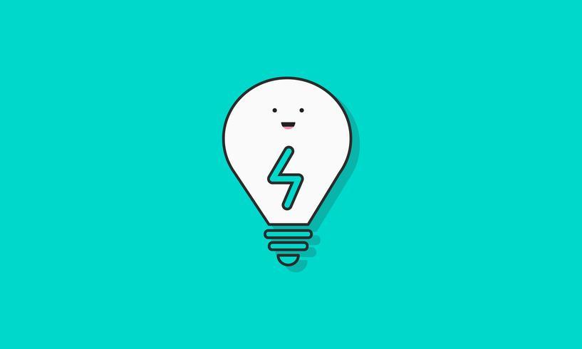 Illustration av glödlampa ikon