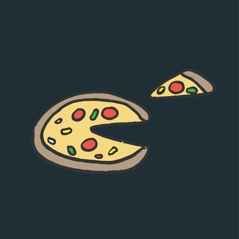 Italienische Käsepizza-Grafikillustration