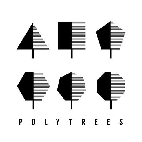 Set abstraktes geometrisches Baumdesign