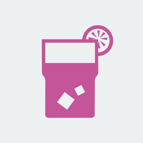 Glass of lemonade icon illustration
