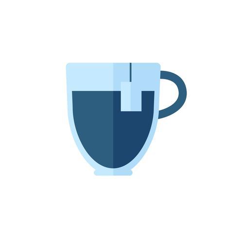 Einfache Abbildung einer Tasse Tee