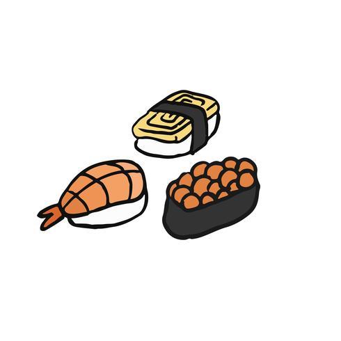 Assortiment de sushi illustration de la cuisine japonaise
