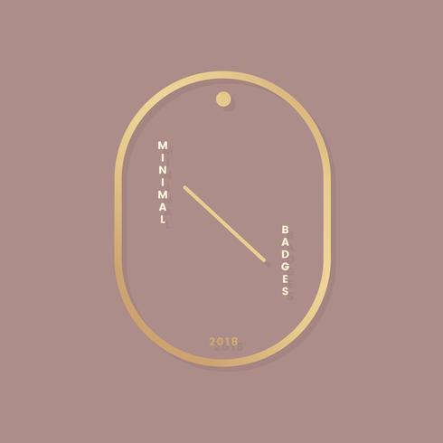 Badge minimaliste de luxe