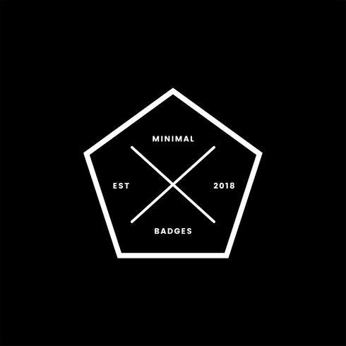 Insignia y logo de estilo minimalista
