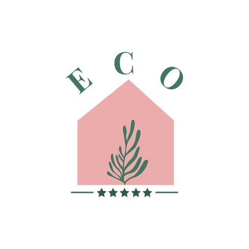 Eco amigable agricultura icono vector