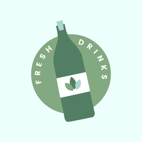 Fresh and organic drinks icon