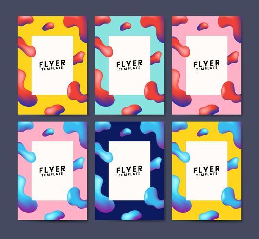 Kleurrijke flyer sjabloonontwerp illustratie