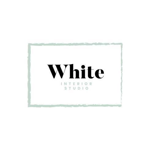 Diseño de logotipo interior blanco estudio