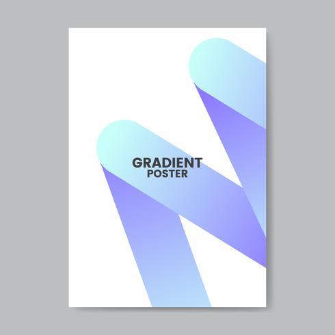 Conception d'affiche dégradé néon en zigzag