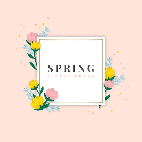 Frühlingsblumenfeldabbildung
