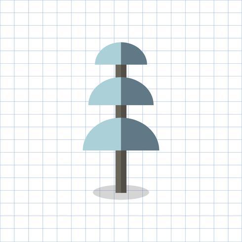 Ilustración de un árbol geométrico coloreado