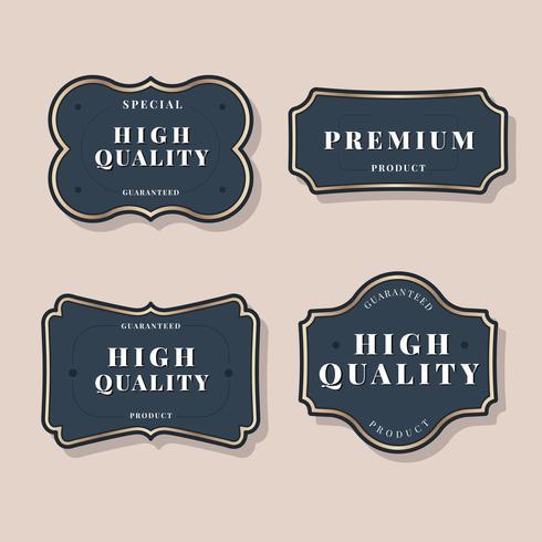 Vintage labelcollectie