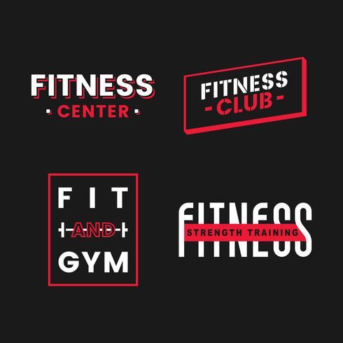 Set of fitness club logo vectors