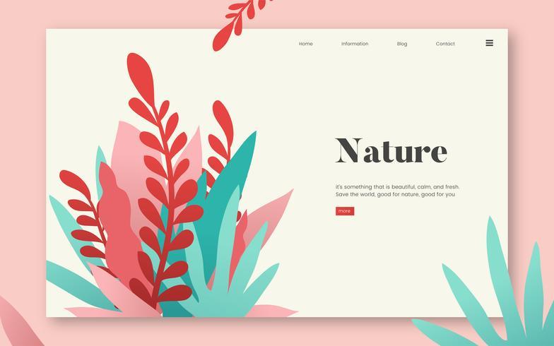 Website-Grafik für Natur und Pflanzen